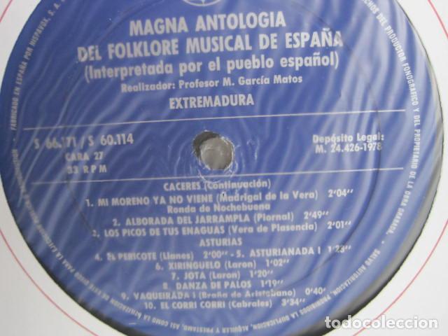Discos de vinilo: MAGNA ANTOLOGÍA DEL FOLKLORE MUSICAL DE ESPAÑA INTERPRETADA POR EL PUEBLO. M. GARCÍA MATOS. UNESCO. - Foto 63 - 199694373