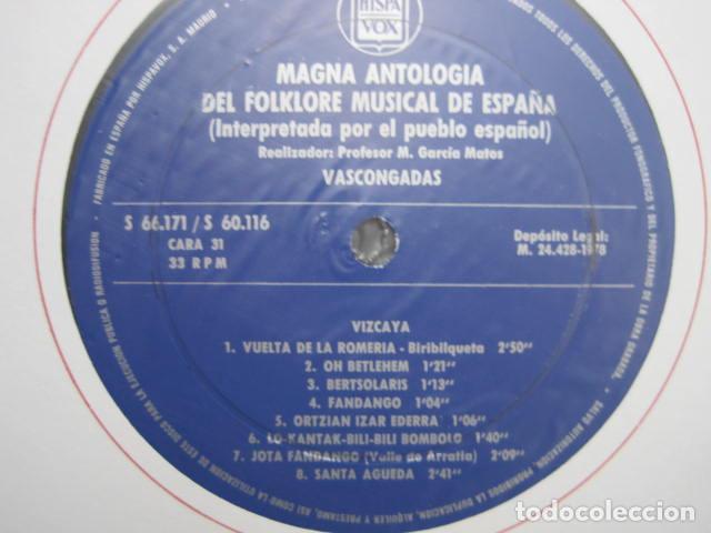 Discos de vinilo: MAGNA ANTOLOGÍA DEL FOLKLORE MUSICAL DE ESPAÑA INTERPRETADA POR EL PUEBLO. M. GARCÍA MATOS. UNESCO. - Foto 67 - 199694373