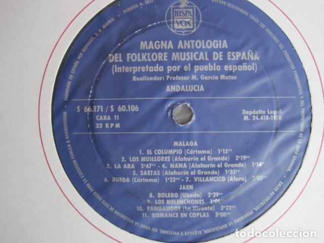 Discos de vinilo: MAGNA ANTOLOGÍA DEL FOLKLORE MUSICAL DE ESPAÑA INTERPRETADA POR EL PUEBLO. M. GARCÍA MATOS. UNESCO. - Foto 44 - 199694373