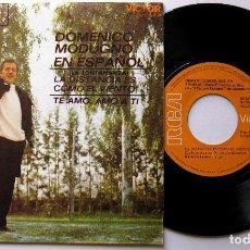 Discos de vinilo: DOMENICO MODUGNO - LA DISTANCIA ES COMO EL VIENTO (LA LONTANANZA) - SINGLE RCA VICTOR 1970 BPY. Lote 199699750