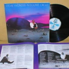 Discos de vinilo: STEVIE WONDER SPAIN LP IN SQUARE CIRCLE LETRAS MOTOWN CARPETA DOBLE + LIBRETO 8 PAGINAS FUNK POP. Lote 199704237