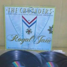 Discos de vinilo: THE CRUSADERS RARO SPAIN LP DOBLE DIRECTO FUNK R&B SOUL JAZZ ROYAL JAM B.B. KING ORQUESTA SINFONICA. Lote 199705877