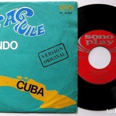 Discos de vinilo: LUIS AGUILE - CUANDO SALÍ DE CUBA - SINGLE SONOPLAY 1967 BPY. Lote 199719308