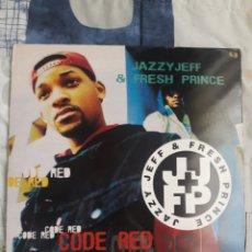 Discos de vinilo: DISCO JAZZY JEFF & FRESH PRINCE, CODE RED. Lote 199729991
