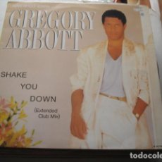 Discos de vinilo: GREGORY ABBOTT SHAKE YOU DOWN (EXTENDED CLUB MIX). Lote 199750948