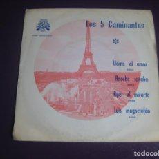 Discos de vinilo: LOS 5 CAMINANTES EP LUYTOM 1971 - LLAMA AL AMOR +3 LATIN ORQUESTA - CANCION LIGERA - VINILO NUEVO. Lote 199751365