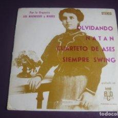 Discos de vinilo: ORQUESTA LOS MAGNIFICOS Y MARBEL EP BCD 1974 - OLVIDANDO +3 - LATIN ORQUESTA CANCION LIGERA - SWING. Lote 199752611