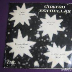 Discos de vinilo: CUATRO ESTRELLAS EP VICTORIA 1973 GOLPECITOS / TOMATE/ SI VISITAS MADRID +1 LATIN POP JAZZ RUMBA . Lote 199753243