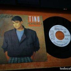 Discos de vinilo: TINO FERNANDEZ SIGUELA / CASI, CASI AMOR SINGLE VINILO PROMO DEL AÑO 1985 PARCHIS 2 TEMAS. Lote 182827745