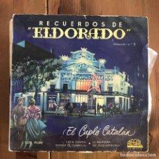 Discos de vinilo: LINDA VERA - RECUERDOS DE ELDORADO Nº 2 - EL CUPLÉ CATALÁN - 7''EP REGAL 1958. Lote 199757695