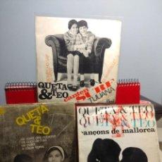 Discos de vinilo: LOTE DE 2 EP´S DE QUETA & TEO ( CANÇONS DE MALLORCA + A CAÇAR TIGRES + CANTEN SURF . Lote 199757910