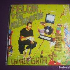 Discos de vinilo: FELON Y SU MIERDOFON EP ALEHOP 2008 - LA ALEGRIA DE CANTAR +3 - LO FI PUNK DIY - ULAN BATOR TRIO. Lote 199758481