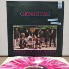 Discos de vinilo: MIDNIGHT STAR - SNAKE IN THE GRASS 1989 GER / PINK MARBLED VINYL. Lote 199760232
