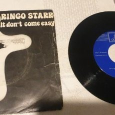 Discos de vinilo: RINGO STARR , IT DON'T COME EASY. Lote 199760685
