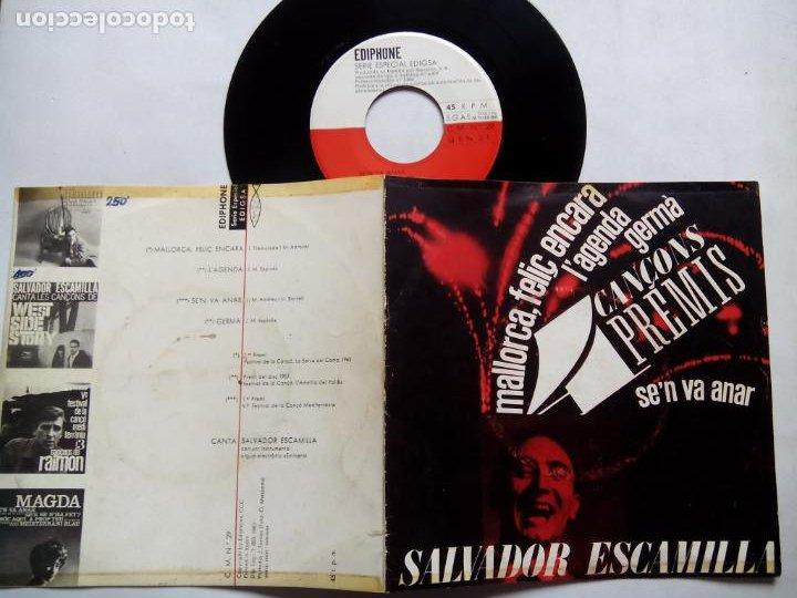 Discos de vinilo: SALVADOR ESCAMILLA. 4 CANÇONS PREMIS. EP EDIPHONE CM Nº29. ESPAÑA 1963. - Foto 3 - 199761323