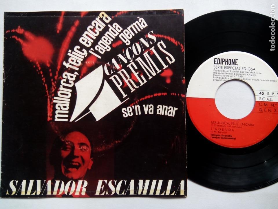 SALVADOR ESCAMILLA. 4 CANÇONS PREMIS. EP EDIPHONE CM Nº29. ESPAÑA 1963. (Música - Discos de Vinilo - EPs - Solistas Españoles de los 50 y 60)