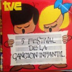 Discos de vinilo: 5 FESTIVAL DE LA CANCION INFANTIL- LP. Lote 199761747