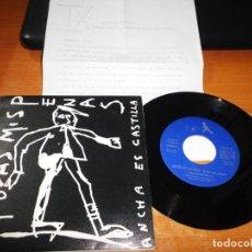 Discos de vinilo: ANCHA ES CASTILLA TODAS MIS PENAS SINGLE VINILO CON HOJA PROMO DEL AÑO 1993 CONTIENE 3 TEMAS. Lote 199762935