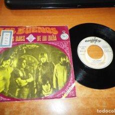 Discos de vinilo: LOS BUENOS LOOKING BACK / DE MI NIÑA SINGLE VINILO PROMO DEL AÑO 1969 CONTIENE 2 TEMAS. Lote 199764637