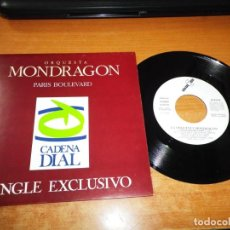 Discos de vinilo: ORQUESTA MONDRAGON PARIS BOULEVARD SINGLE VINILO PROMO CADENA DIAL JAVIER GURRUCHAGA JOAQUIN SABINA. Lote 199769377