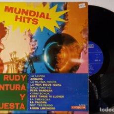 Discos de vinilo: RUDY VENTURA Y ORQUESTA - MUDIAL HITS - VERGARA 1969. Lote 199778735
