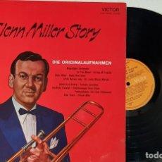 Discos de vinilo: GLENN MILLER STORY - DIE ORIGINALAFNAHMEN - MADE IN GERMANY - CARPETA ABIERTA. Lote 199780058