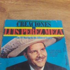Discos de vinilo: SINGLES LUIS PEREZ MEZA. Lote 223979195