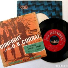Discos de vinilo: FRANKIE LAINE / MARTY ROBBINS - GUNFIGHT AT THE O.K. CORRAL - SINGLE COLUMBIA 1958 JAPAN BPY. Lote 199788337