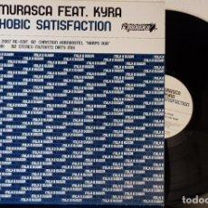 Discos de vinilo: YVES MURASCA FEAT KYRA - SAXOOHOBIC SATISFACTION MAXI. Lote 199792677