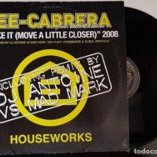 Discos de vinilo: LEE- CABRERA FEAT ALEX CANTARA - SHAKE IT - MOVE A LITLE CLOSER -2002 MAXI. Lote 199795180