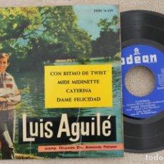 Discos de vinilo: LUIS AGUILE CON RITMO DE TWIST EP VINYL MADE IN SPAIN 1963. Lote 199800836