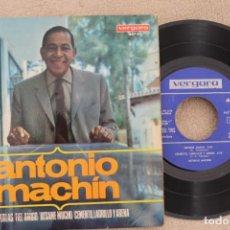 Discos de vinilo: ANTONIO MACHIN DOS PERLAS EP VINYL MADE IN SPAIN 1966. Lote 199800997