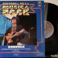 Discos de vinilo: DONOVAN - HISTORIA DE LA MUSICA ROCK - EPIC 1973 - ORBIS. Lote 199801307