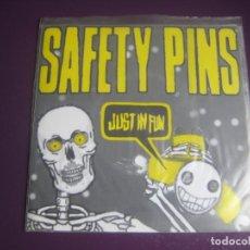 Dischi in vinile: SAFETY PINS SG NO TOMORROW 1998 - JUST IN FUN +1 (SU PRIMER SG) PUNK ROCK 70'S - SIN ESTRENAR. Lote 199801891