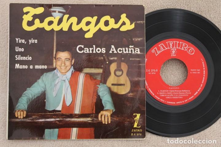 CARLOS ACUÑA TANGOS EP VINYL MADE IN SPAIN 1961 (Música - Discos de Vinilo - EPs - Grupos y Solistas de latinoamérica)