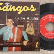 Discos de vinilo: CARLOS ACUÑA TANGOS EP VINYL MADE IN SPAIN 1961. Lote 199803805
