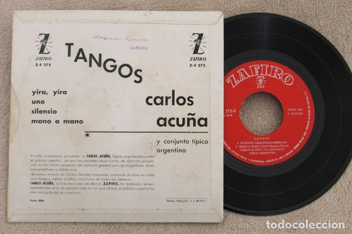 Discos de vinilo: CARLOS ACUÑA TANGOS EP VINYL MADE IN SPAIN 1961 - Foto 2 - 199803805
