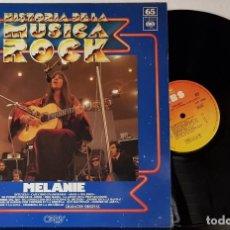 Discos de vinilo: MELANIE - HISTORIA DE LA MUSICA DEL ROCK - CBS 1975 - ORBIS. Lote 199804247
