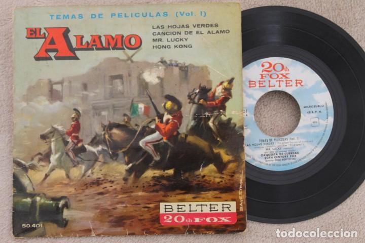 BSO EL ALAMO ORQUESTA DE CUERDAS HUGO MONTENEGRO EP VINYL MADE IN SPAIN 1961 (Música - Discos de Vinilo - EPs - Bandas Sonoras y Actores)