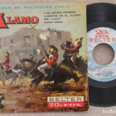 Discos de vinilo: BSO EL ALAMO ORQUESTA DE CUERDAS HUGO MONTENEGRO EP VINYL MADE IN SPAIN 1961. Lote 199804446