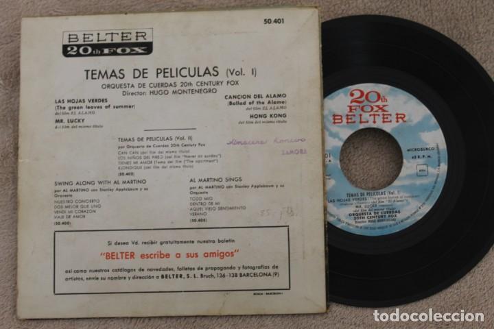 Discos de vinilo: BSO EL ALAMO ORQUESTA DE CUERDAS HUGO MONTENEGRO EP VINYL MADE IN SPAIN 1961 - Foto 2 - 199804446