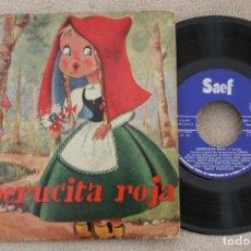 Discos de vinilo: CAPERUCITA ROJA EMILIA VERDIGUIER SINGLE VINYL MADE IN SPAIN 1961. Lote 199816410