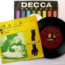 Discos de vinilo: ELMER BERNSTEIN ORCHESTRA - THE MAN WITH THE GOLDEN ARM - SINGLE DECCA 1963 JAPAN BPY. Lote 199822175