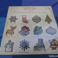 Discos de vinilo: LP ELVIS PRESLEY THE WONDERFUL WORLD OF CHRISTMAS USA 70S PORTADA DECENTE VINILO BIEN . Lote 199823780