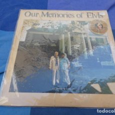 Discos de vinilo: LP ELVIS PRESLEY OUR MEMORIES OF PRESLEY POR ELVIS SR Y EL CORONEL MUCHO USO SE PUEDE OIR ALGO USA. Lote 199825015