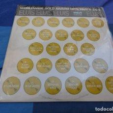 Discos de vinil: ELVIS PRESLEY WORLDWIDE GOLD AWARD HITS 3 Y 4 USA 78 LPS CON SOLO MUY LEVES SEÑALES DE USO CORRECTOS. Lote 199832073