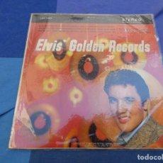 Discos de vinil: ELVIS PRESLEY LP GOLDEN RECORDS USA 60S MUY ANTIGUO LP ACUSA CIERTO USO AUN ACEPTABLE. Lote 199835340