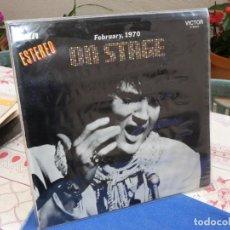 Discos de vinil: LP ELVIS PRESLEY ON STAGE FEBRUARY 1970 MUY CORRECTO TAPAS Y VINILO. Lote 199841636