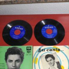 Discos de vinilo: 2 SINGLES ANTONIO MOLINA ALEGRIAS DE ZARAGOZA EMI ODEON DSOE 16.233 1958 DIFÍCIL Y ASI CANTA 1958. Lote 199842166