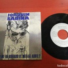 Discos de vinilo: JOAQUIN SABINA ¿QUIEN ME HA ROBADO EL MES DE ABRIL?/PELIGRO DE INCENDIO SINGLE 7' 1988 ARIOLA SPAIN. Lote 199842547